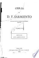 Obras de D. F. Sarmiento...: Instituciones sud-americanas. 1913