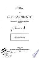 Obras de D. F. Sarmiento...: Páginas literarias. 1900