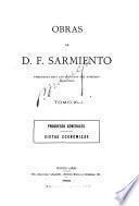 Obras de D. F. Sarmiento ...: Progresos generales; vistas económicas. 1900