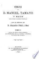 Obras de D. Manuel Tamayo y Baus, 1