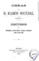 Obras de D. Ramón Nocedal: Discursos I-II. Cortes de 1891 a 1892