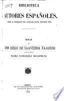 Obras de Don Diego de Saavedra Fajardo