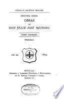 Obras de Don Félix José Reinoso ...: Poesias