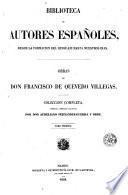 Obras de don Francisco de Quevedo Villegas, 1