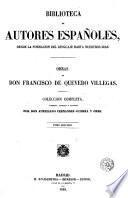 Obras de don Francisco de Quevedo y Villegas