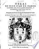 Obras de don Iuan de Tarsis, conde de Villamediana, y correo mayor de Su Magestad