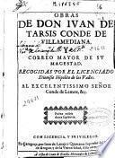 Obras de Don Iuan de Tarsis...
