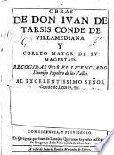 Obras de Don Ivan de Tarsis conde de Villamediana ...