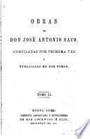 Obras de don José Antonio Saco