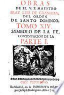 Obras de el V.P. maestro Fray Luis de Granada ... tomo 1. \-27.!