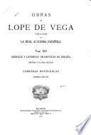 Obras de Lope de Vega, publicadas por la Real Academia Española