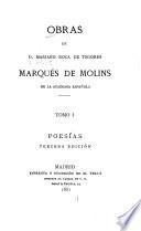 Obras de Mariano Roca de Togores, marqués de Molins: Poesías. 3a. ed