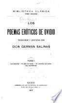 Obras de Ovidio: Los poemas erotícos de Ovidio