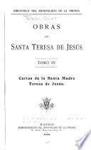 Obras de Santa Teresa de Jesús: Cartas de la Santa Madre Teresa de Jesús