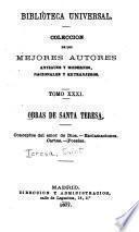 Obras de santa Teresa