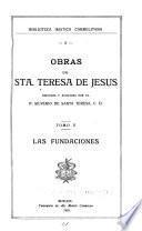 Obras de sta. Teresa de Jesús: Las fundaciones
