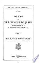 Obras de sta. Teresa de Jesús: Relaciones espirituales