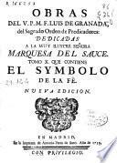Obras del V.P.M.F. Luis de Granada del ... Orden de Predicadores ...