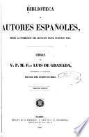 Obras del V. P. M. Fray Luis de Granada0