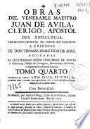 Obras del venerable maestro Juan de Avila ...
