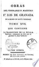 Obras del venerable P. Maestro Fr. Luis De Granada, de la orden de Santo Domingo