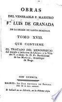 Obras del venerable P. Maestro Fr Luis de Granado de la Orden de Santo Domingo