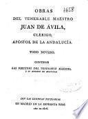 Obras del venrable maestro Juan de Avila ...