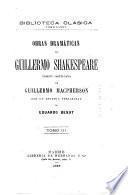 Obras dramáticas de Guillermo Shakespeare