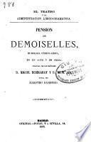 Obras dramáticas: Pension de demoiselles ...