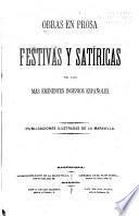 Obras en prosa festivas y satíricas ...