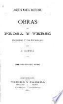 Obras en prosa y verso