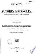 Obras escogidas, con una noticia de su vida y juicio critico de sus escritos por Don Vicente de la Fuente