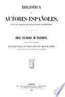Obras escogidas de filosofos con un discurso preliminar del excelentisimo e ilustrisimo senor don Adolfo de Castro