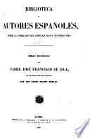 Obras escogidas del padre José Francisco de Isla