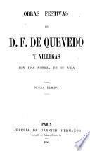 Obras festivas de D.F. de Quevedo y Villegas