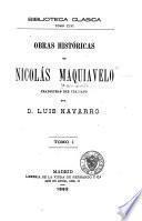 Obras históricas de Nicolás Maquiavelo