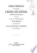 Obras inéditas de Manuel José Quintana