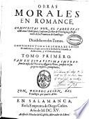 Obras morales en romance