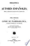 Obras originales del Conde de Floridablanca, y escritos referentes a su persona