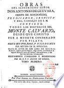 Obras par Antonio de Guevara, pub. corr. por Orozoo
