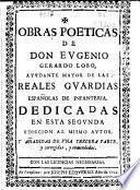 Obras poeticas de Don Eugenio Gerardo Lobo ...