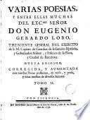 Obras poéticas del Excmo. señor don Eugenio Gerardo Lobo