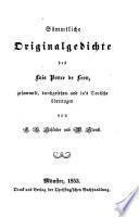 Obras poéticas propias de Fray Luis Ponce de Leen ... recogidas y traducidas en aleman por C. B. Schlüter y W. Storck. Span. & Ger