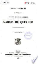 Obras poéticas y literarias de José Heriberto García de Quevedo
