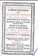 Obras posthumas lyricas humanas