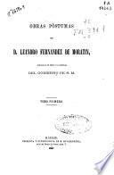 Obras póstumas de D. Leandro Fernández de Moratín: (1867. VIII, 587 p.)