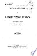 Obras póstumas de D. Leandro Fernandez de Moratin