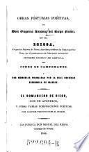Obras Póstumas Poéticas, De Don Eugenio Antonio del Riego Nuñez, Con Una Egloga ... Y Dos Memorias Premiadas ...