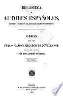 Obras publicadas e inéditas de Gaspar Melchor de Jovellanos, 2