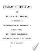 Obras sueltas de D. Juan de Yriarte